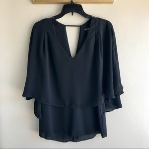 [Express] Black Popover Blouse